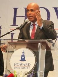 Haiti - Politics: President Martelly applauded at Howard University
