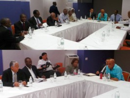 Haiti - Politic : The President Martelly sits with the radical opposition