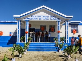 Haiti - Reconstruction : Brand new police station in Cerca Carvajal