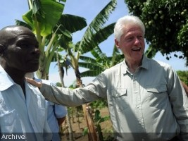 Haiti - Economy : Visit of Bill Clinton in Haiti