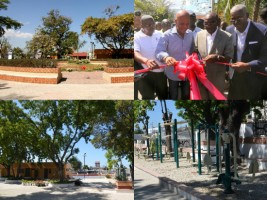 Haiti - Reconstruction : Inauguration of the Place Sainte-Anne
