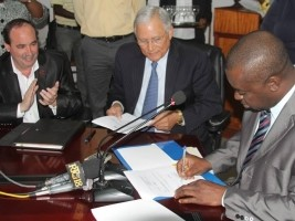 Haiti - Agriculture : Signature of an important agro-industrial project