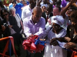 Haiti - Reconstruction : Multiple inauguration in Léogâne