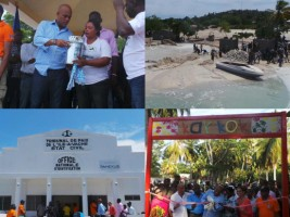Haiti - Reconstruction : Tour of  President Martelly on Île-à-Vache