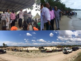 Haiti - Reconstruction : Tour of President Martelly in Les Cayes