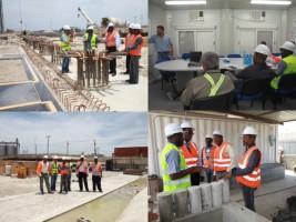 iciHaiti - Reconstruction : The CMPE visit the construction site of North Wharf