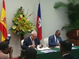 Haiti - Reconstruction : Signature of an agreement of 129 million Euros with Spain