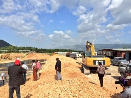 Haiti - Reconstruction : Tour of construction sites in the Nippes department