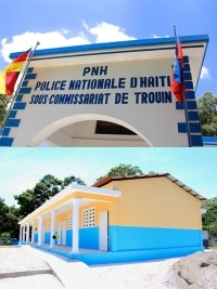 Haiti - Reconstruction : Inauguration of the sub police station and the school of Trouin