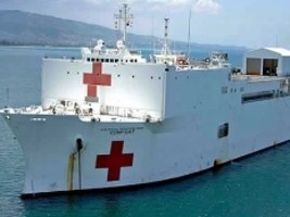 Haiti - Humanitarian : Launch of the mission of the Hospital Ship USNS Comfort