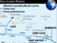 Haiti - Tomas : 72 hours before the arrival of Tomas
