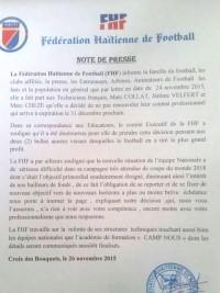 iciHaïti - Football : Annonce officielle du départ de Marc Collat et de son équipe