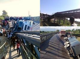 iciHaïti - FLASH : Effondrement d'un pont sur la Rivière grise