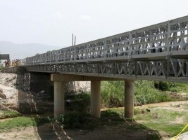 Haiti - Reconstruction : Official opening of the new bridge on the Road 9