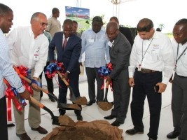 iciHaiti - Economy : Laying the foundation stone of the Service Micro-Park of Ouanaminthe