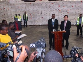 Haiti - Humanitarian : Japan donated 8,509 tons of rice