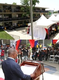 Haiti - Reconstruction : Inauguration of National School Republic of the United States