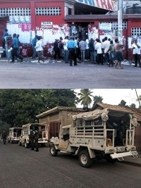 Haiti - Elections : Opening of polling stations