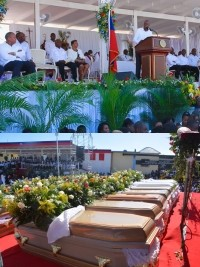 Haiti - Politics : Moïse to the collective funeral of the victims of the Gonaïves accident