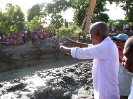 Tour of Moïse of projects in progress of the Artibonite Valley