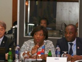 Haiti - Sports : Minister Régine Lamur in the Dominican Republic