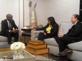 Ha ti diplomatie la chanceli re du venezuela rencontre for Hopital canape vert haiti