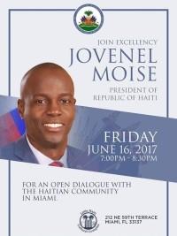 Haiti - FLASH Diaspora : Invitation to meet President Moïse