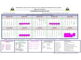 Haiti Education Calendrier Scolaire 2017 2018 Haitilibre Com