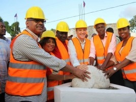 Haiti - Les Cayes : Laying the foundation stone of the largest Caribbean vocational training center