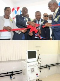 Haiti - Health : Inauguration of the 3rd Dialysis Unit of OFATMA