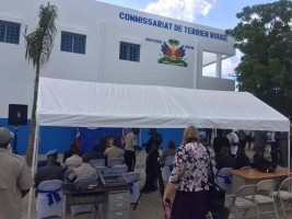 Haiti - USA : Terrier Rouge has a new Police Station