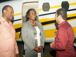 Haiti - Social : The First Lady of Haiti in Belize