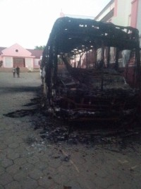 A bus Dignité burned in Grande Rivière du Nord-Added COMMENTARY By Haitian-Truth