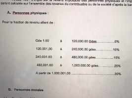 loi impot sur le revenu haiti 2005
