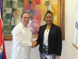 iciHaïti - Tourisme : La Ministre Ménos fait une rencontre «merveilleuse» en RD