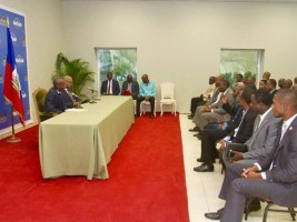 Haiti - Politics : Head of State met political parties on dispute background