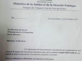 Haiti - FLASH : Two former ministers under Privert banned from leaving the territory