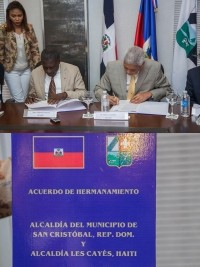 Haiti - Politic : Twinning between Les Cayes and 2 Dominican cities