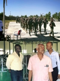 Haiti - Army : The Commander-in-Chief of the army visits the Léogâne Base