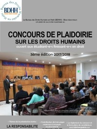 Haiti - Justice : 3rd Argument Contest, registrations open