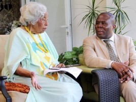 iciHaiti - Education : The Minister of Education meets Odette Roy Fombrun