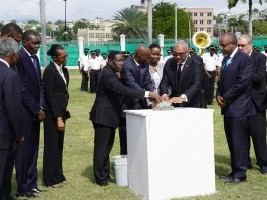Haiti - Politic : Jovenel Moïse laid the first stone of the National Palace