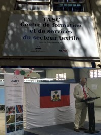 Haiti - Economy : Inauguration of a Training Center for the textile sector