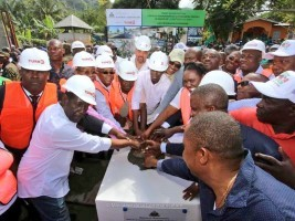 iciHaiti - Environment : Laying the foundation stone of the 6th Plant Propagation Center