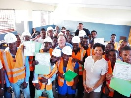 iciHaiti - Les Cayes : 250 young adults certified in resistant constructions