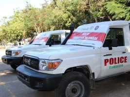 iciHaiti - Canada : Donation of vehicles to the PoliFront
