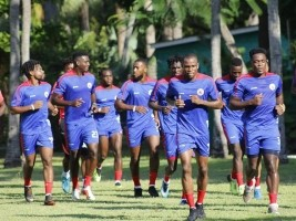 Haiti - Football : League of Nations, first training session for Grenadiers