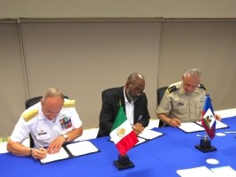 Haiti - Army : The Minister of Defense signs a military cooperation agreement with Mexico