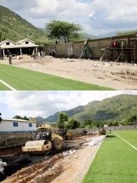 iciHaiti - Sports : Follow-up of the rehabilitation works of Park Ste Claire