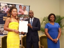 iciHaiti - Politic : Naomi Osaka honored at the National Palace